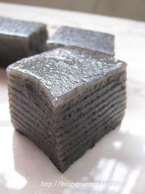 Steamed Black Sesame Kuih