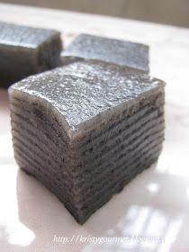 Steamed Black Sesame Kuih
