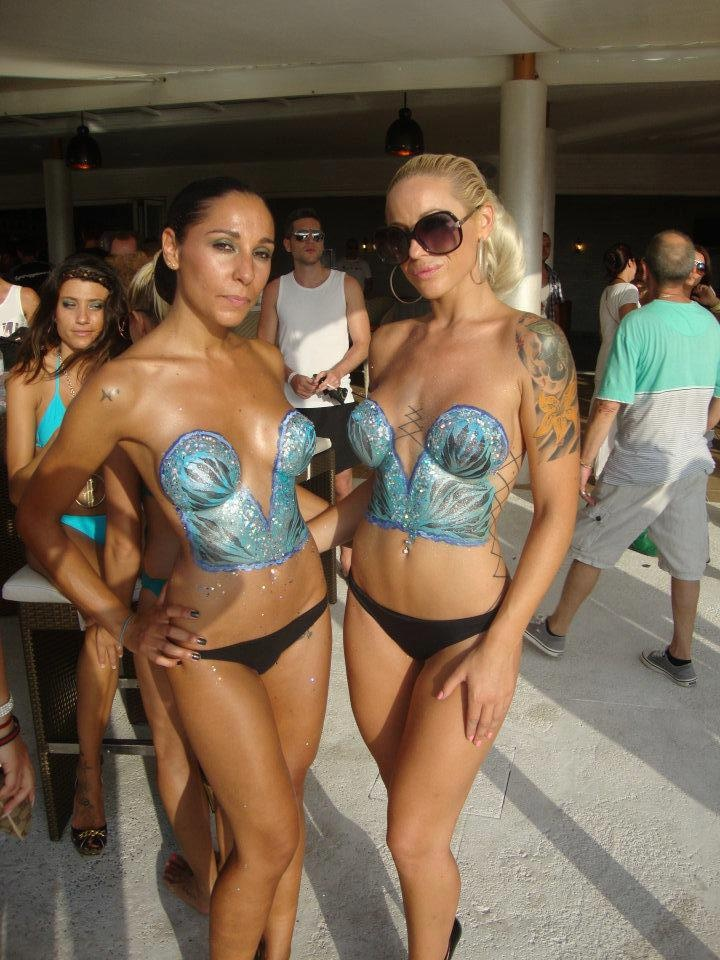 Hed Kandi Dancers painted by Kiss My Fairy Ibiza