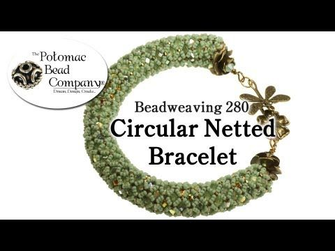 Circular Netted Bracelet (Beadweaving 280).wmv - YouTube free tutorial from The Potomac Bead Company. Potomac bead company has hundreds of tutorials on YouTube and tens of thousands of products (gemstones, crystals, glass, seed beads, pendants, silver, findings, tools & more) in retail bead stores and on TheBeadCo.com! www.potomacbeads.com www.thebeadco.com