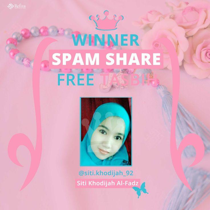 Selamat kepada @siti.khodijah_92 sebagai pemenang spam share instagram minggu ini.  Silahkan hubungi customer service kami.  Buat yang belum beruntung, jangan patah semangat, Refiza Souvenir masih punya kejutan lainnya.