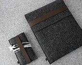 iPad Air and iPhone sleeve FELT DUETT wool felt set for iPad iPad Air and iPhone