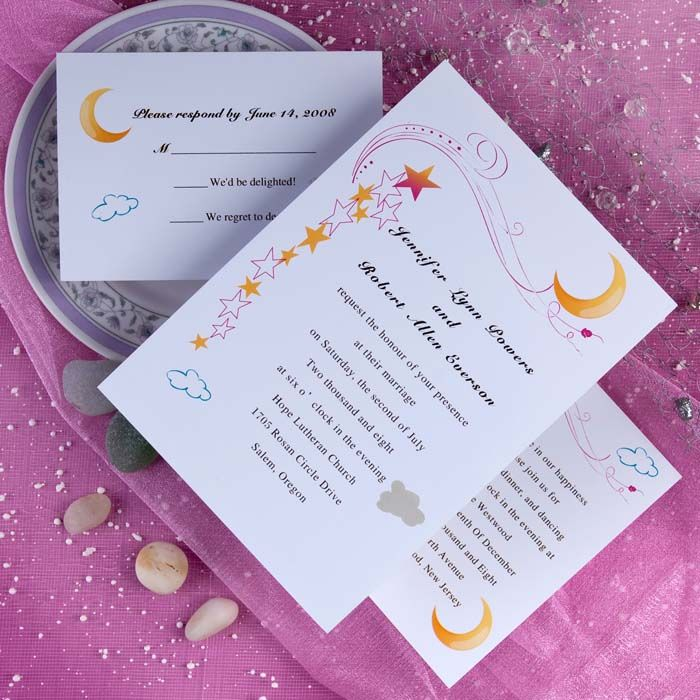 matter for wedding invitation in gujarati%0A wedding invitations moon   Moon and Stars Wedding Invitation Kits  INW       INW