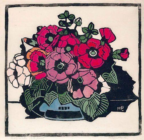 Holyhocks by Margaret Preston