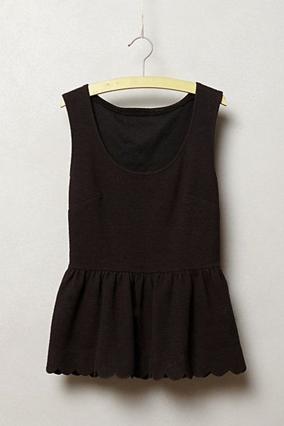 Clovelly Peplum Top #anthropologie