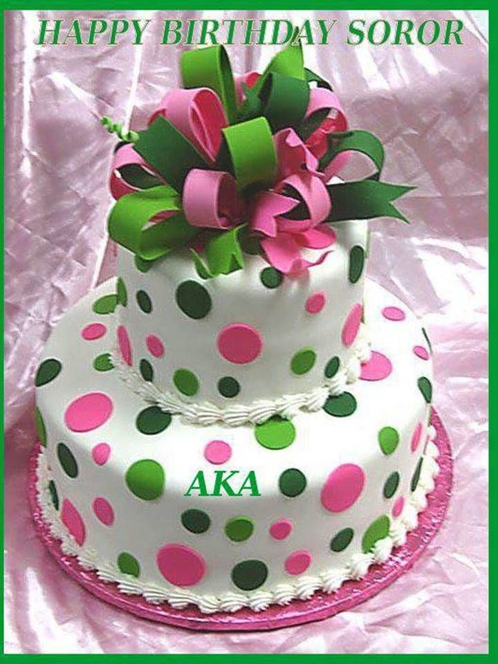 Alpha Kappa Alpha Birthday Cakes