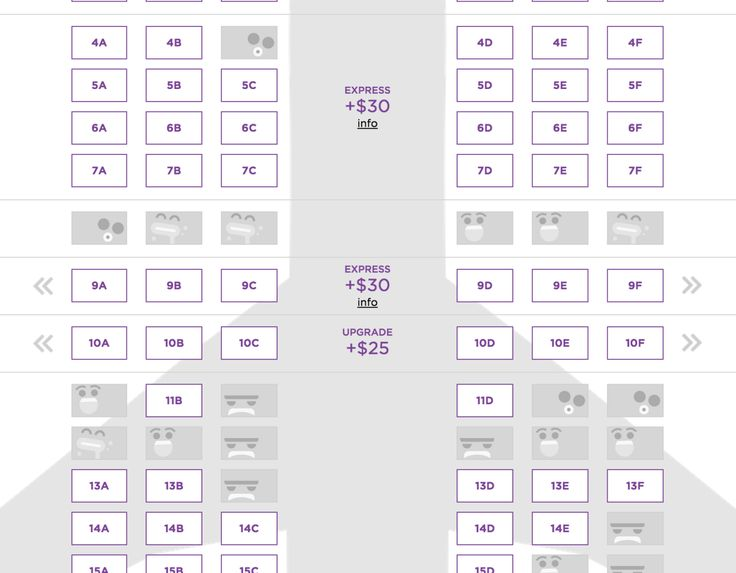Virgin America - During the seat selection process, unavailable seats appear as the avatars of the other travelers (you can choose from a number of smileys) /via Rocket