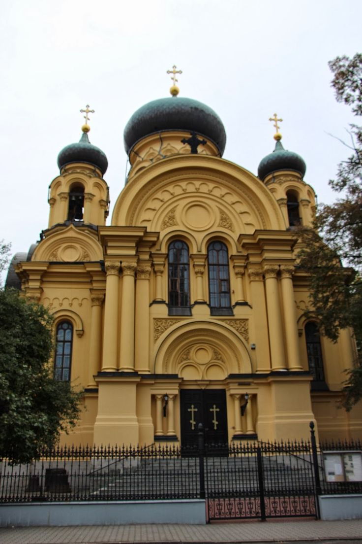 The Orthodox Metropolitan Cathedral of St Mary Magdalene and the Apostles was designed in Byzantine Russian style and built in 1869.  Praga, Warsaw, Poland