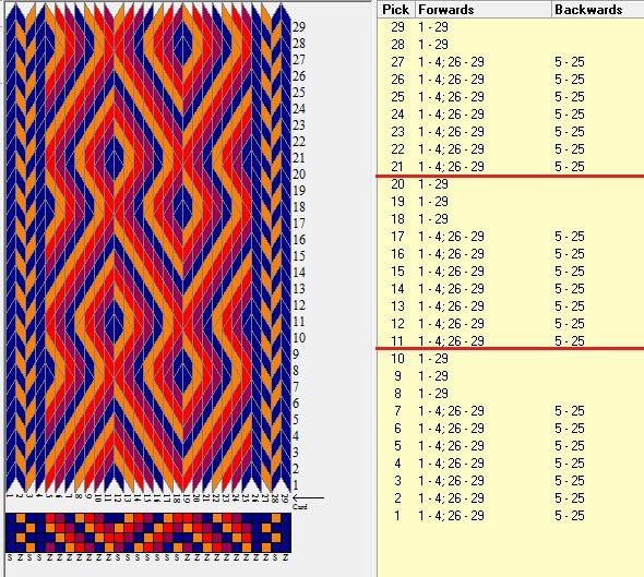 29 tarjetas, 4 colores, repite cada 10 movimientos /7 sed_1051 diseñado en GTT༺❁