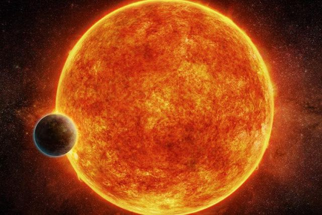 Illustration of LHS 1140 star with its super-Earth planet. Credit: ESO   SpaceNesia - After the discovery of planets in the star Proxim...