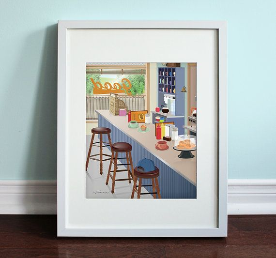 Luke's Diner  Gilmore Girls Gilmore Girls TV by BeautifulPeaceShop