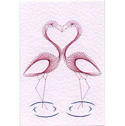 Flamingos Prick and Stitch e-pattern