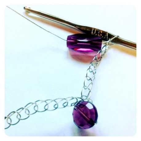 How to crochet wire jewelry