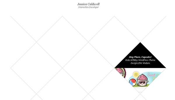 Jessica Caldwell in Unusual Geometry in Web Design