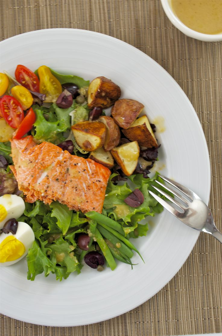 Nordstrom Cafe Nicoise Salad with Salmon recipe. Had this today at Nordstrom Cafe and it was the best salad of my life. I can't wait to recreate it!!