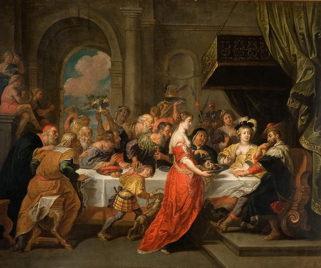 The Feast of Herod, David Teniers Jnr, c.1640-90 by Birmingham Museum and Art Gallery, via Flickr