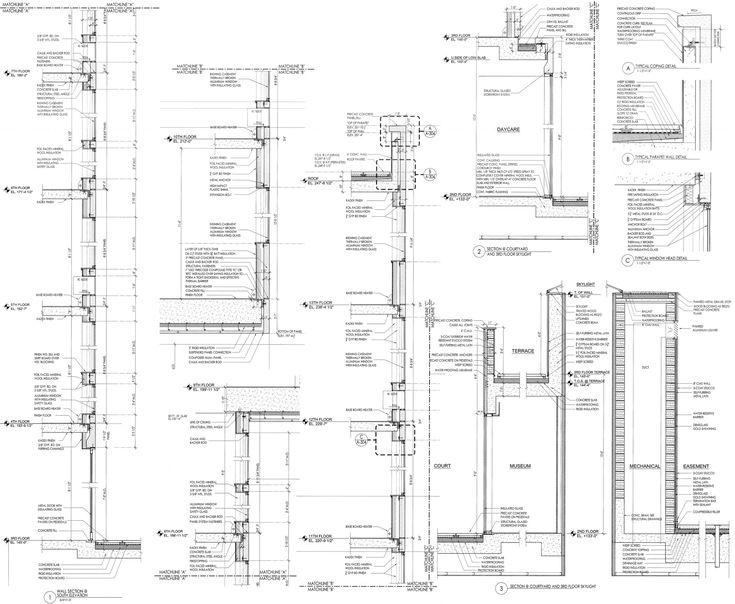 Imagem 51 de 51 da galeria de Complexo Sugar Hill / Adjaye Associates. Wall Sections