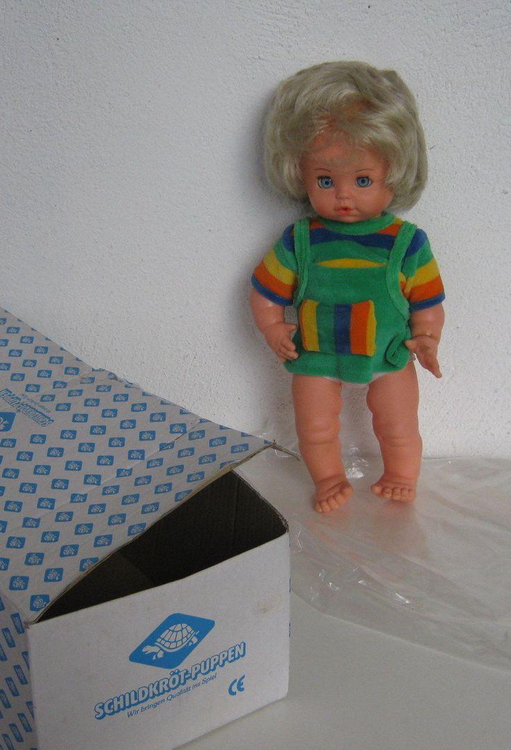 Wunderschöne ältere Funktionspuppe von Schildkröt, noch im Originalkarton   eBay