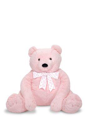 Melissa & Doug Girls' Pink Jumbo Teddy Bear - Pink - One Size