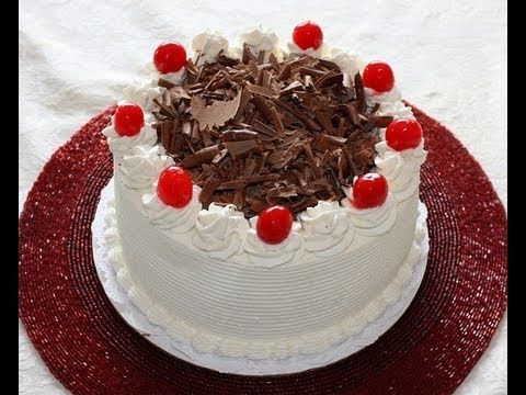 Black Forest Cake Recipe... Learn how to make a home made Black Forest Cake right out of your kitchen. Easy and simple home made cake recipe and cake decoration from a professional french bakery chef. The Black Forest Cake is a special unique chocolate cake decorated with fresh whip cream, cherries and chocolate shavings. In this video Nadia shows step by step directions on how to decorate and make a Black Forest cake.