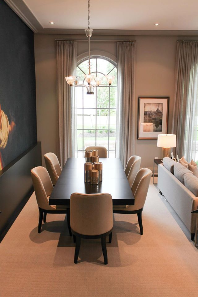 luxury dining room custom-built by Carlos Jardino and PCM Inc for the 2015 Princess Margaret Oakville Showhome