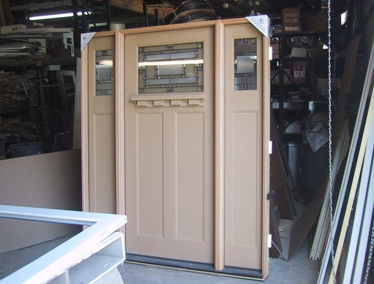 Entry Door With Two Side Lights Entry Prehung Craftsman