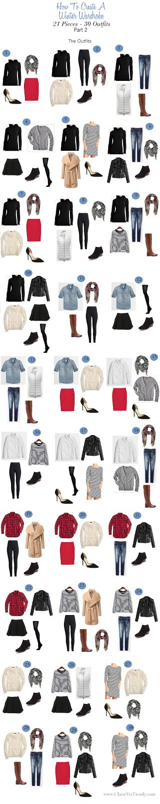 Classy Yet Trendy: How To Create A Winter Wardrobe: 21 Pieces - 30 Outfits
