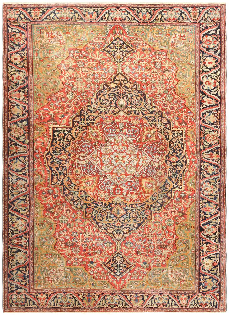 View this beautiful Persian Farahan Sarouk rug 49112 from Nazmiyal Collection in New York City.