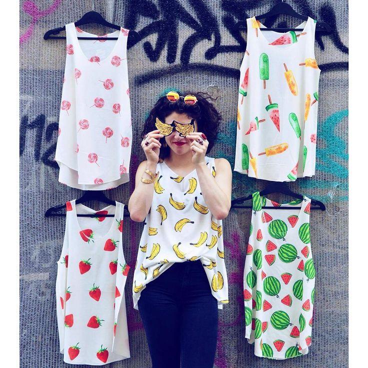 Na és a webshopon mi újság: www.szputnyikshop.hu  #szputnyikshop #szputnyik #budapest #webshop #online #shopping #newcollection #tanktop #fruit #prints #watermelon #banana #strawberry #lollipop #popsicle #graffiti #streetstyle