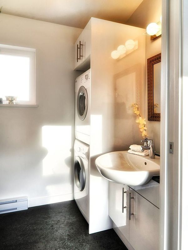 Photos Of  Small Laundry with Bathroom Combinations