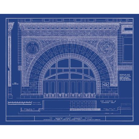 Chicago stock exchange blueprint image men 39 s fashion - Antique exchange home design baltimore md ...