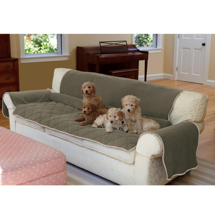 Sofa dog covers deluxe sofa throw pet cover thesofa for Best furniture covers for pets