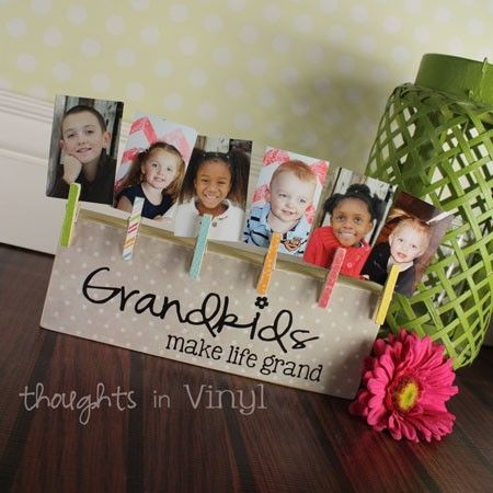 Grandkids Brag Board | Thoughts in Vinyl | Only $13 | Great Mothers Day gift idea!