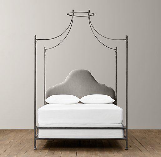 allegra iron canopy bed restoration hardware baby child