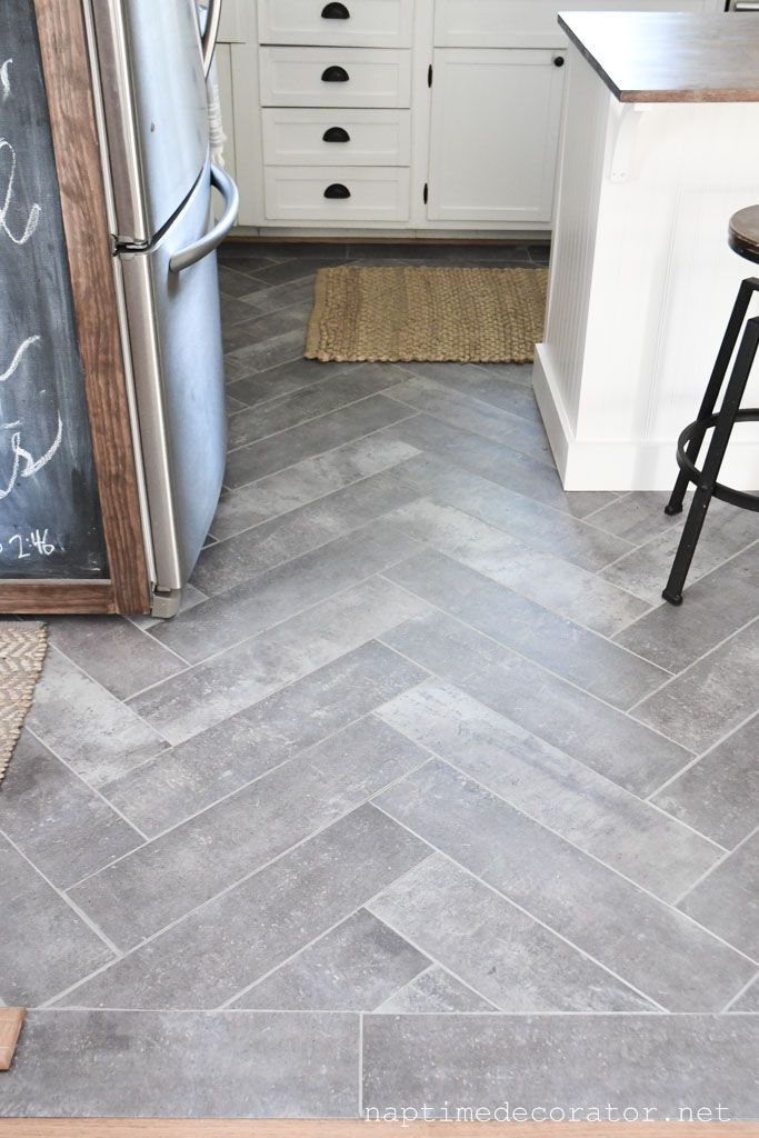 Peel And Stick Floor Tile In The Kitchen A Gorgeous Budget Friendly Diy Kitchen Remodel