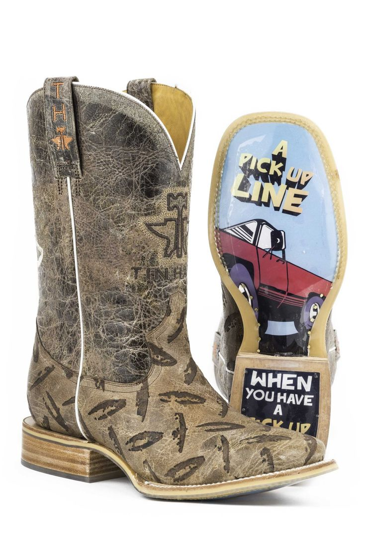 """Tin Haul cowboy boots are not for the faint of heart. With a slogan of """"Wear Your Metal Out,"""" these boots are designed to stand out from the crowd. Known for their edgy twist on traditional western bo"""