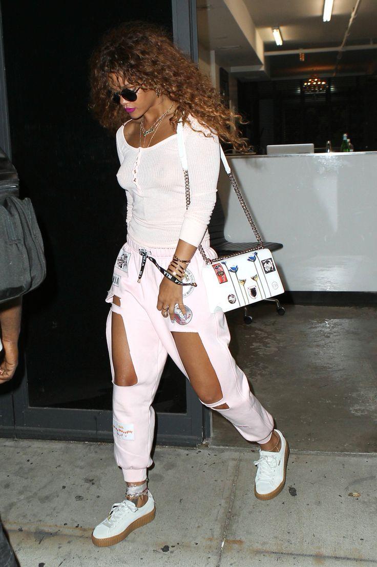 Rihanna Street Style Fashion Outfit Candid 2016 Badgalriri