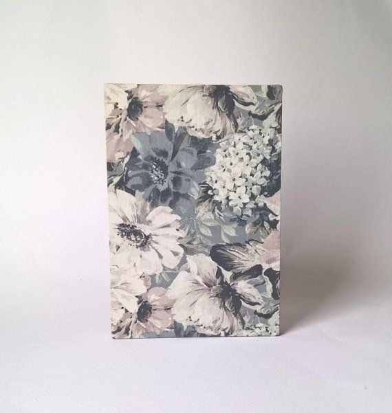 Floral Notebook Genuine diary Travelers by ArlesAtelierBooks