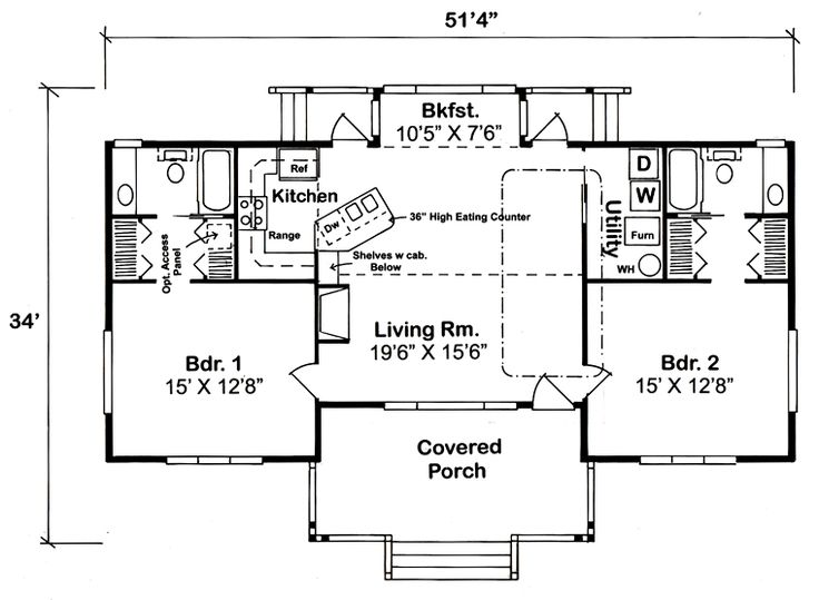 144 best One Floor Ranch Bungalow Plans images on Pinterest