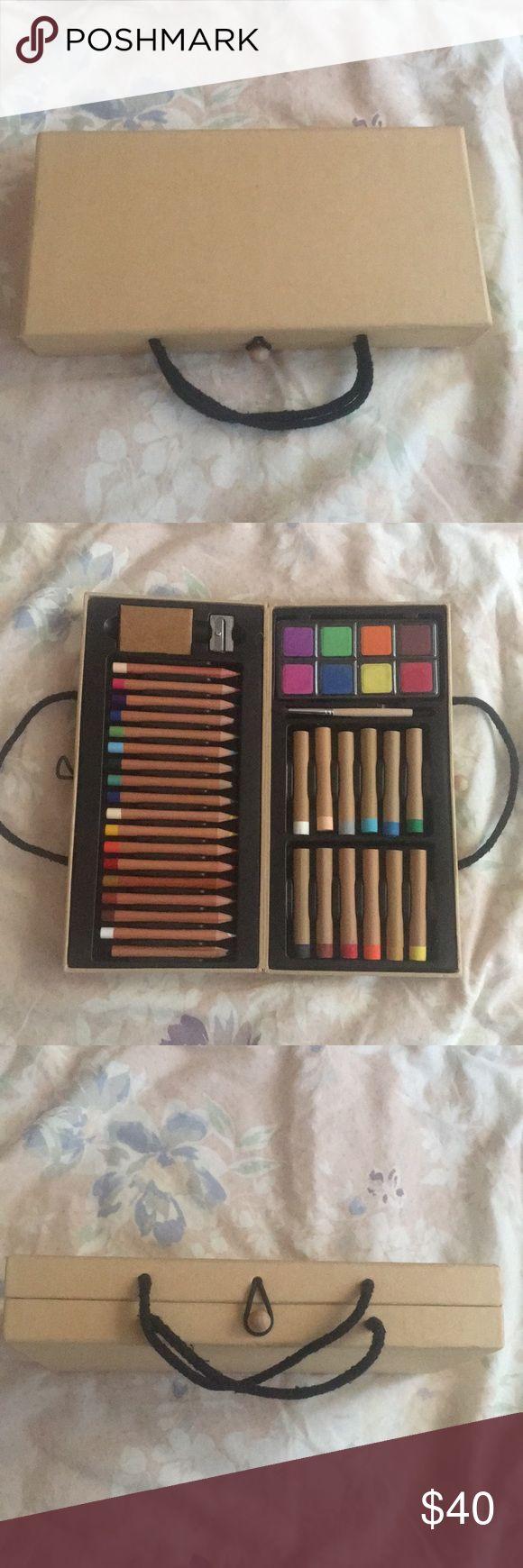 Art set pastels color pencils paint eraser Brand New never