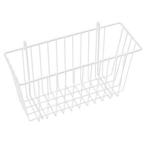 """Metro Super Erecta 17 x 7 x 5"""" White Storage Basket by Super Erecta. $22.80. Material: White Wire. Length: 7-1/2"""". Model #: H210W. Width: 17-3/8"""". Depth: 5"""". Metro Super Erecta 17 x 7 x 5"""" White Storage BasketThis white wire basket attaches quickly and easily to Super Erecta shelves or hanger rails.Model #: H210W Material: White Wire Width: 17-3/8"""" Length: 7-1/2"""" Depth: 5"""" Weight: 7 lbs 228982"""