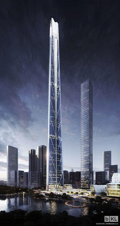 H700 Shenzhen Tower by bKL Architecture in Shenzhen, China