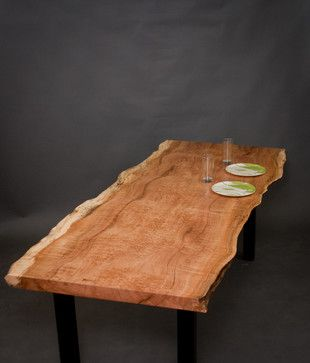 Figured Reclaimed Maple Dining Table   Modern   Dining Tables   Seattle    ELPIS