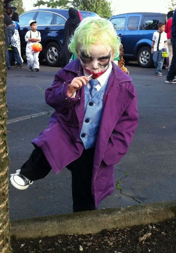 Kid Dressed as the Joker. You wanna know how I got this face paint?