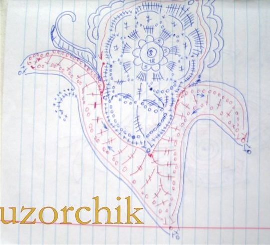 paisley crochet motif