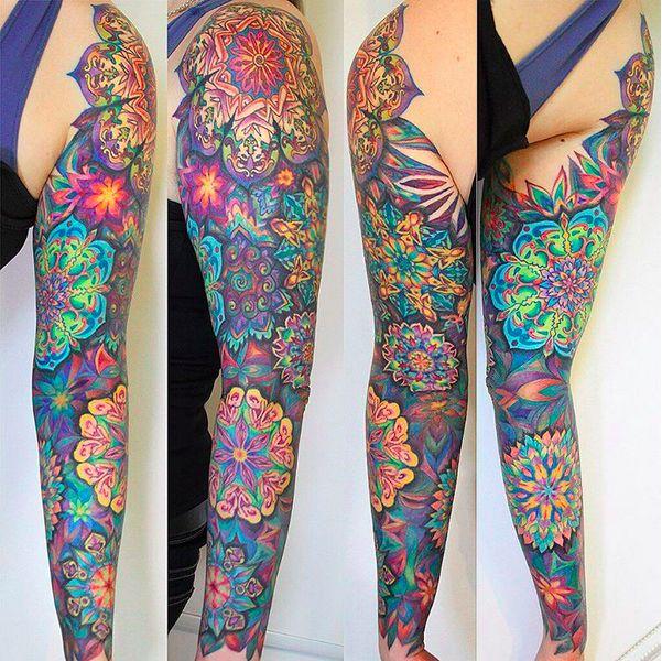 28 Colored Full Sleeve Tattoos: Best 25+ Colorful Mandala Tattoo Ideas On Pinterest