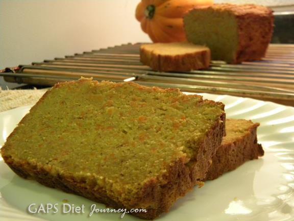Pumpkin Bread (Gluten/Grain/Dairy/Sugar-Free GAPS Friendly)  #GAPSDietJourney