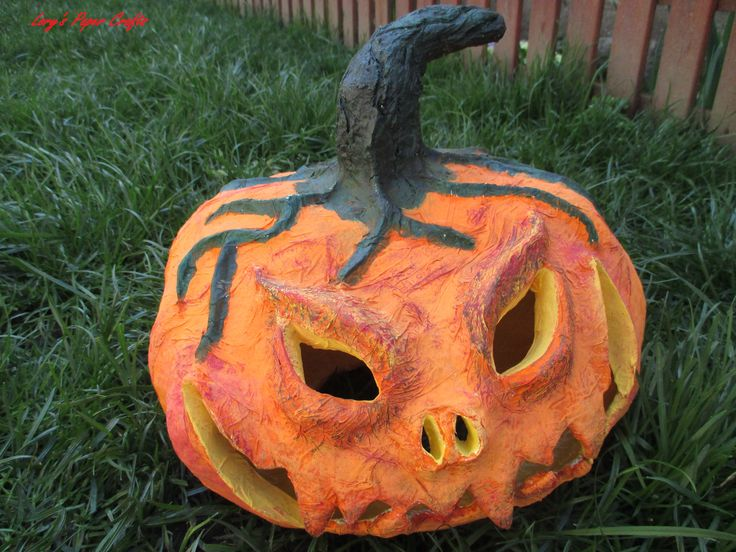 My first papier mache pumpkin