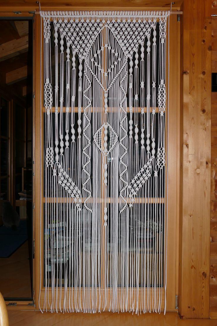 Makramee Fenster oder Türbehang