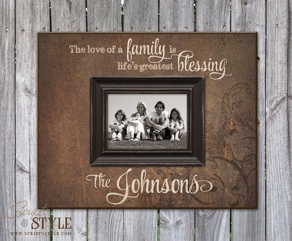 Personalized Picture Frame with Family Name & Quote, Family Picture Frame, Personalized Wedding Anniversary Gift on Etsy, $69.99